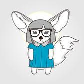 Trendy fox — Stock Vector