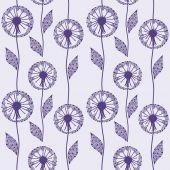 Seamless pattern with beautiful dandelion — Stockvektor