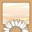 Vintage card with beige sunflower for your design — Stock Vector #66823545