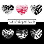 Decorative striped hearts — Stock Vector #67477623