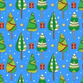 Christmas seamless pattern. — Stock Vector