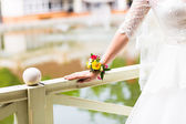 Floral bracelet for the bride — Stock Photo