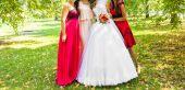 Damas de honra — Fotografia Stock
