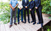Groomsmen and groom — Stock Photo