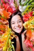 Ragazza di fiore — Foto Stock