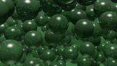 Balls bubbles green — Stock Photo