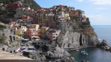 Italian coastal town Manarola — Wideo stockowe