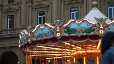 Carousel in Florence — Stock Video