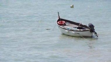 Boat in the sea — Stock Video