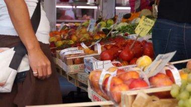 Rialto Food Market in Venice — Stock Video