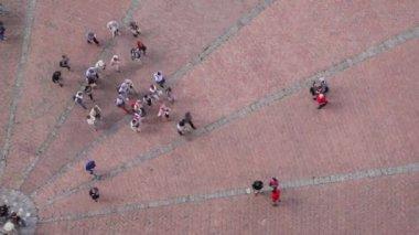 Piazza del Campo in Siena — Stock Video