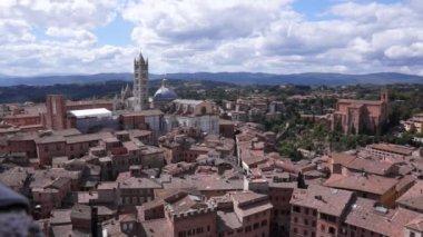Siena city view — Стоковое видео