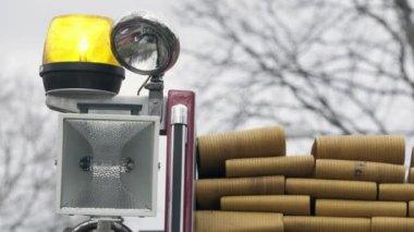 Light on a fire truck — Stock Video