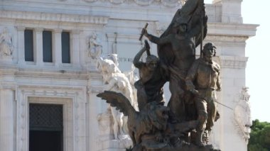 Victor Emmanuel Monument in Rome — Stock Video