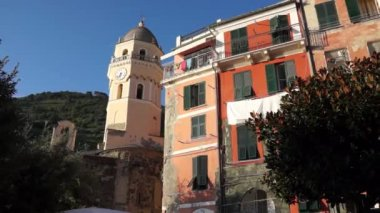Vernazza town view — Stock Video