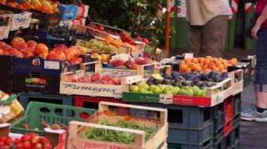 Fresh Produce Market in Riomaggiore — Stock Video