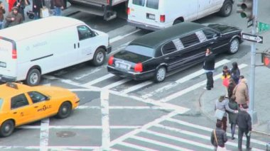 Traffic in a New York at morning — Vídeo stock