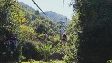 Chair lift on the Isle of Capri — Stock Video
