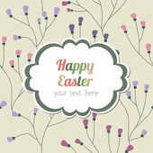 Easter card with floral background — Stock Vector