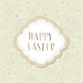 Carte de Pâques avec fond floral — Vecteur