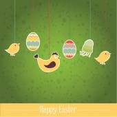 Vector easter graphical elements. Easter card — Stockvector