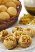Panipuri, Golgappe, Chat item — Stock Photo