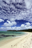 Beach at the ile aux cerfs — Stock Photo