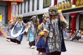 Buddhist festival at Rumtek Monastery — Стоковое фото
