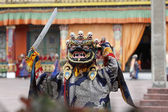 Buddhist festival at Rumtek Monastery — Stok fotoğraf