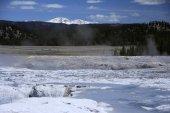 Magnifique geyser au parc national de Yellowstone — Photo