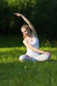 Yoga and gymnastics — Stock Photo