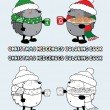 Set of 2 Christmas hedgehogs — Stock Vector #67167203