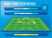 Gol istatistikleri oyun rapor bilgi grafik attı — Stok Vektör