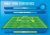 Spel rapport information grafik gjorde mål statistik — Stockvektor