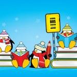 Cute school penguins — Stock Vector #69824769