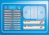 Ice hockey field — Stock Vector