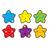 Funny looking stars — Stock Vector