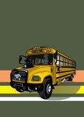 Wicked yellow school bus. — Stock Vector