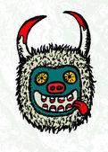 Máscara de carnaval croata tradicional — Vetor de Stock