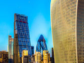 Cheesegrater, Gherkin and Walkie Talkie Buildings London — Stock Photo