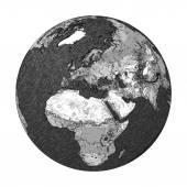Terra disegnata — Foto Stock