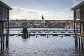Panorama of the city Hudiksvall, Sweden — Stock Photo