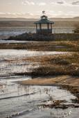 Gazebo on the shore of the Gulf of Bothnia — Stock Photo