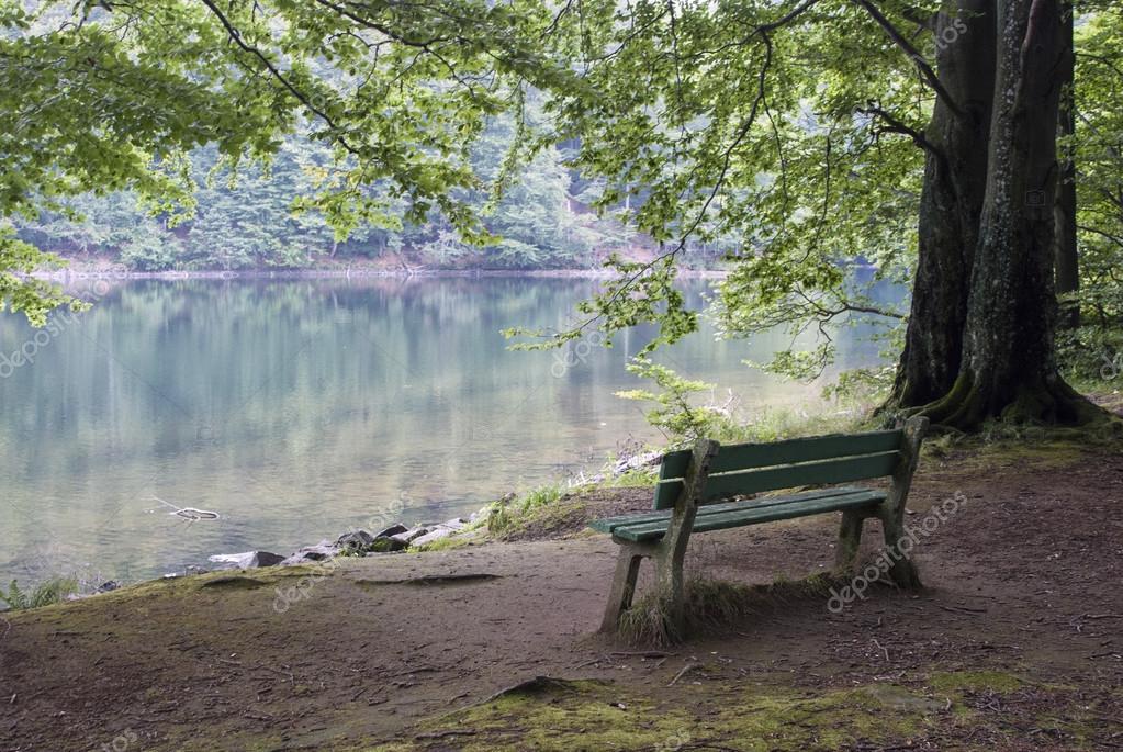 Panchina sul lago foto stock anakul 76686495 for Piani di fattoria sotto 2000 piedi quadrati