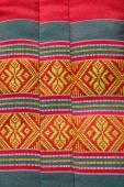 Tajski tradycyjnych wzór w łodzi na poduszkę — Zdjęcie stockowe