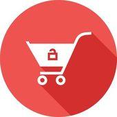 Unlock Cart — Stock Vector