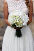 Bride wedding bouquet shows — Stock fotografie