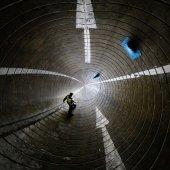 Man lopen in de cirkel — Stockfoto