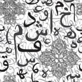 Calligrafia araba di ornamento senza cuciture di testo eid concetto di mubarak per comunità musulmana eid festival al fitr(eid mubarak) — Vettoriale Stock