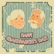 Happy grandparents day poster. Vector illustration in cartoon style — Stock Vector #80151396